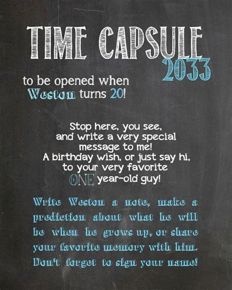 what date do you put decorations up 25 unique time capsule birthday ideas on baby