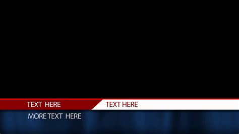 free after effects lower third template cable news