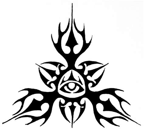 tribal all seeing eye design by thecrimsonseas on deviantart