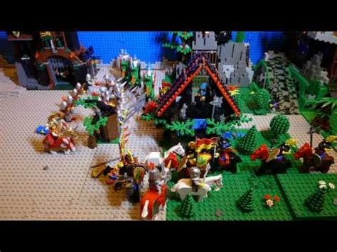Lego Knights War lego castle stop motion big war building