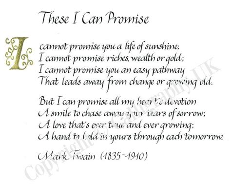 promise quotes and poems quotesgram