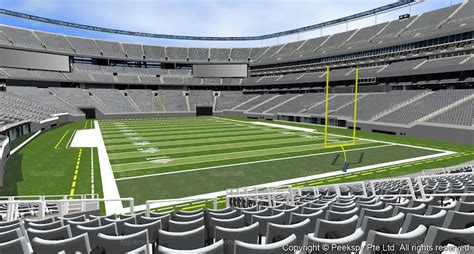 metlife stadium section 104 section 104 row 33 seats 2 new york jets for sale at