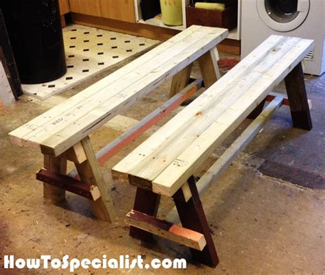 how to build a bench seat with back diy bench seat howtospecialist how to build step by