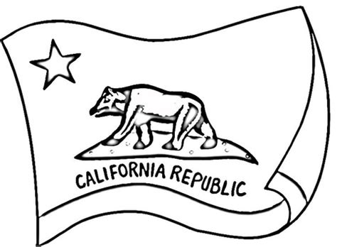 california flag coloring page supercoloring com
