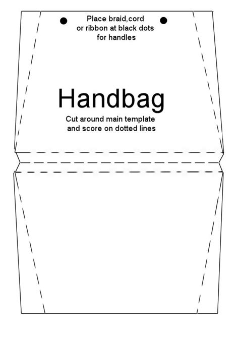 free handbag card template free printables from imag e nation