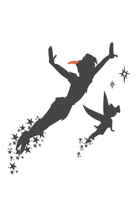 peter pan silhouette tattoo like the never grow up idea it fitsyou pan