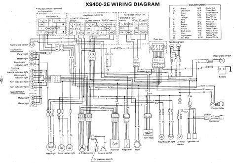yamaha xs400 2e wiring diagram evan fell motorcycle