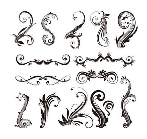 D Ziner 8127 Hitam Transparan ornament design elements vector set free vector graphics