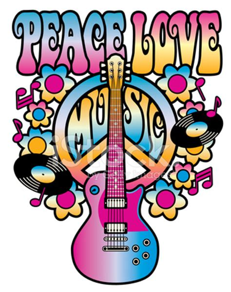 peace love music stock vector freeimages.com