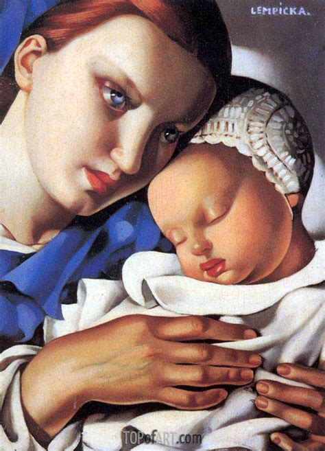 tamara de lempicka art mother and child lempicka painting reproduction 4468