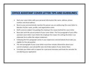 office assistant cover letter sle cover letter cover letter sle office assistant