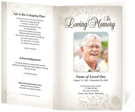 Free Celebration Of Life Program Template Margaretcurran Org Celebration Of Template Free