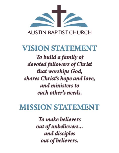 church vision statements