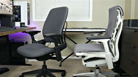 Office Chairs Vs Gaming Chairs Steelcase Leap V2 Ergonomic Chair Vs Herman Miller Embody