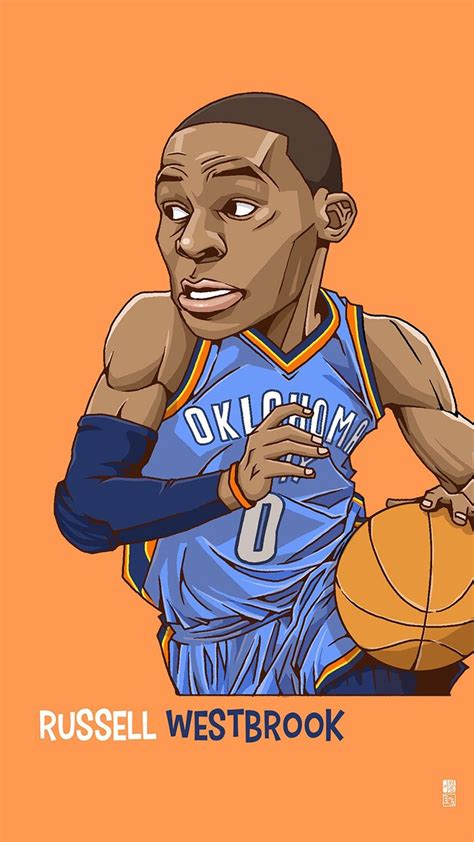 wallpaper cartoon basketball russell westbrook tap to see collection of famous nba
