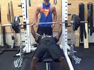 chains bench press workout with weights and chains