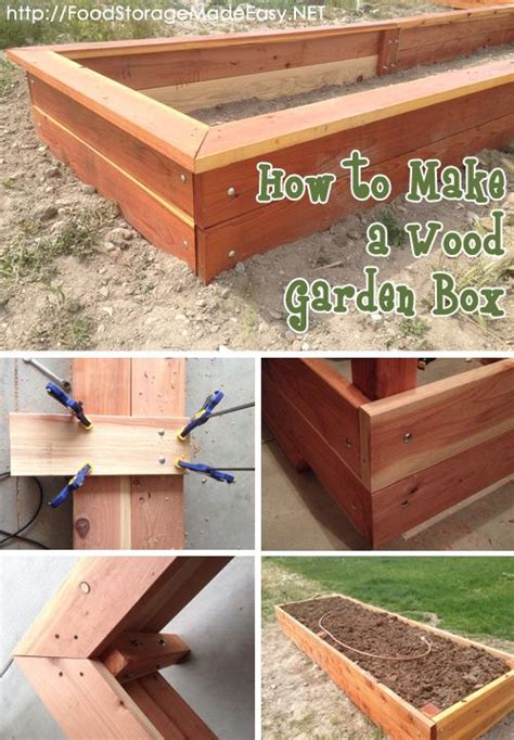 25 Best Ideas About Wooden Garden Boxes On Pinterest How To Build A Raised Vegetable Garden Box