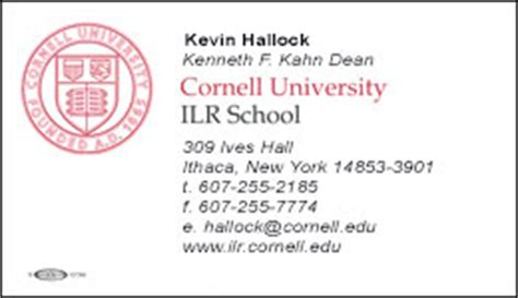 cornell business card template ilr identity logos and templates the ilr school