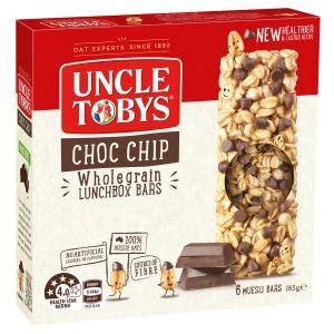 Tobys Muesli Bar tobys chewy muesli bars chocolate chip 185g box 6