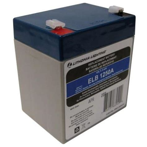 lithonia lighting 12 volt 5 replacement battery elb