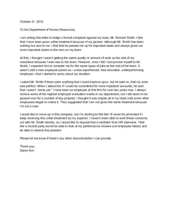 Write Anonymous Complaint Letter Coworker 4 ways to write a letter of complaint to human resources
