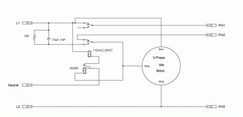 static phase converter wiring diagram 24v capacitor 3