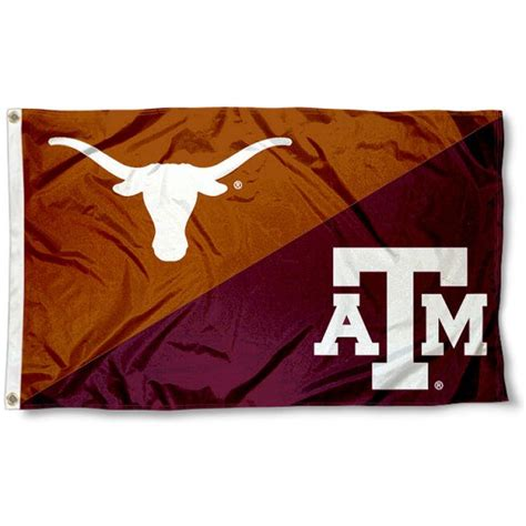 Ut Vs A M Mba by Aggies Vs Longhorns House Divided 3x5 Flag Your Aggies Vs