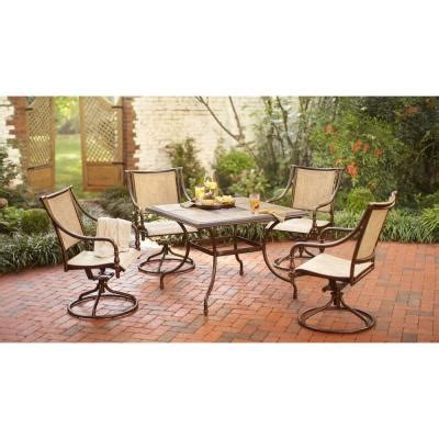 hton bay 5 patio dining set t05f2u0q0056r