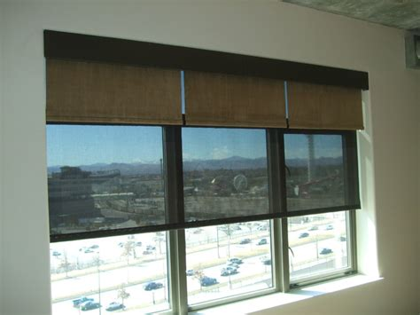 Automatic Roller Blinds motorized shades roller shades denver by brian richards