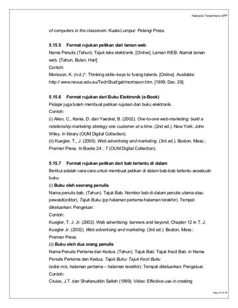 format buku elektronik panduan fyp adtec shah alam