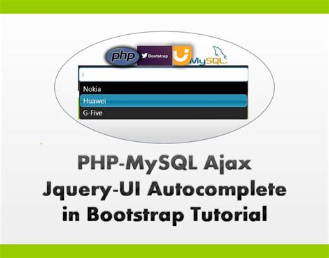 tutorial autocomplete bootstrap php mysql ajax jquery ui autocomplete in bootstrap this