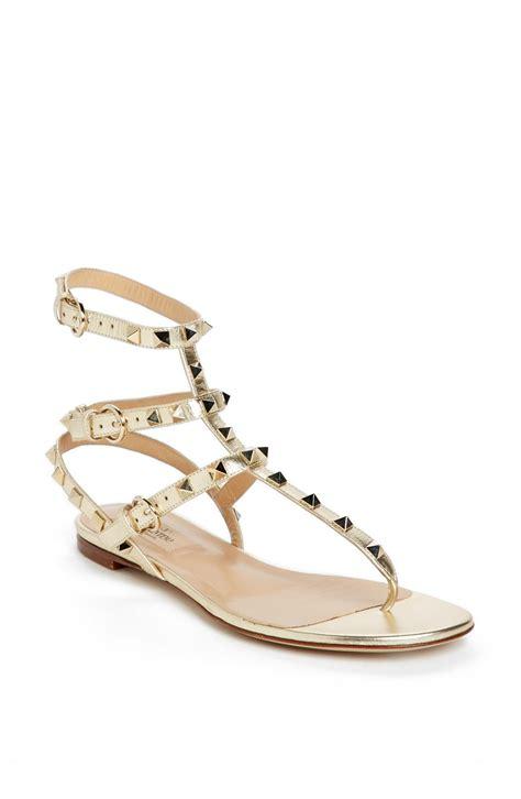 valentino rockstud sandals valentino rockstud sandal in beige