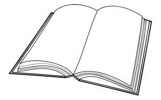 Outline Of A Open Book by Open Book Clip Template Clipart Best