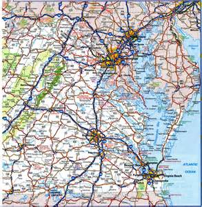 Road Map Of Virginia by Virginia