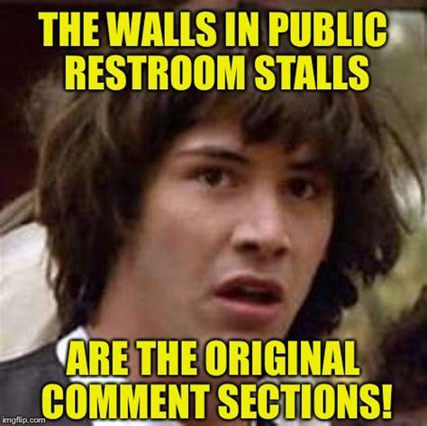 bathroom stall meme bathroom stall imgflip