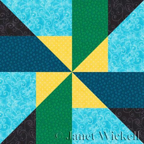 easy  unique pinwheel quilt block pattern