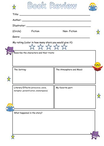 printable book review template ks3 book review frame ks2 by steffster teaching resources tes