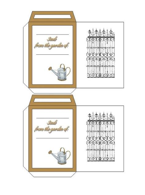 printable seed envelope seed packets printable free printables pinterest