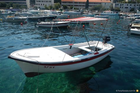 small boat for rent pasara 5hp small boats rent a boat hvarboats