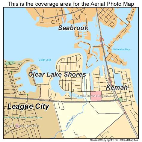 clear lake texas map aerial photography map of clear lake shores tx texas