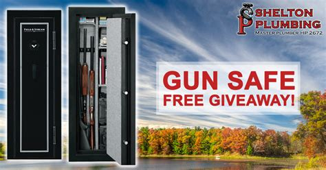 Free Rifle Giveaway - enter to win a field stream gun safe shelton plumbing