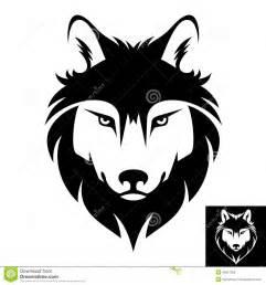 logo ou ic 244 ne principal de loup illustration de vecteur
