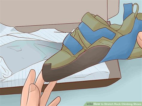 how to stretch climbing shoes 4 ways to stretch rock climbing shoes wikihow