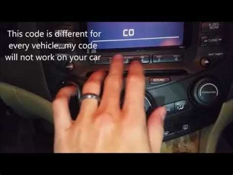 how to unlock honda accord radio 2004 honda accord radio code locked doovi