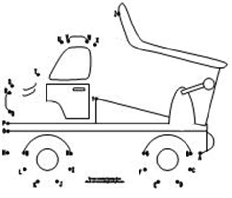 printable dot to dot truck 100 day activities all about me