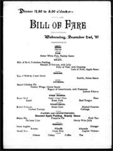 Dinner, bill of fare (1888 edition)   Open Library