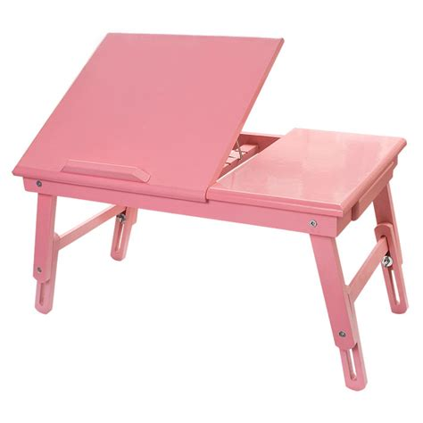 adjustable folding solid wood bed desk table for laptop