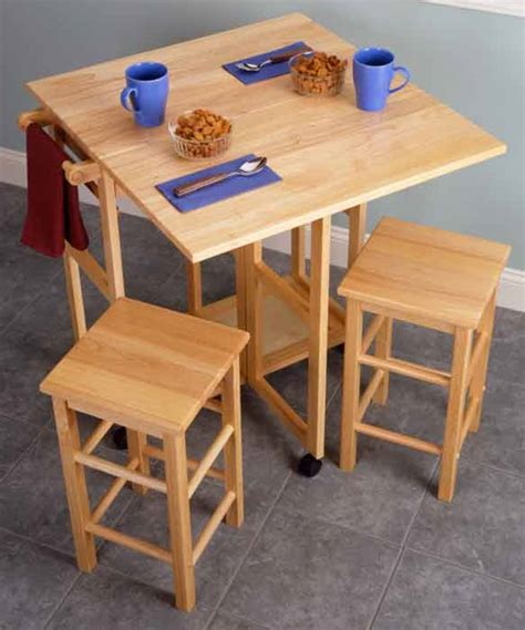 tables with stools for small kitchen home garden