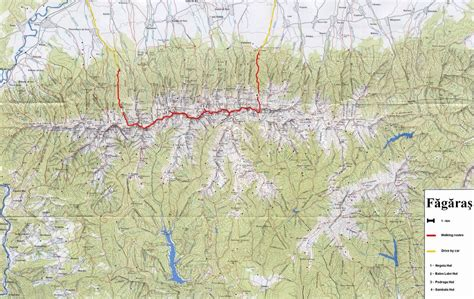 hiking maps bagaras mountains hiking trail map brasov mappery