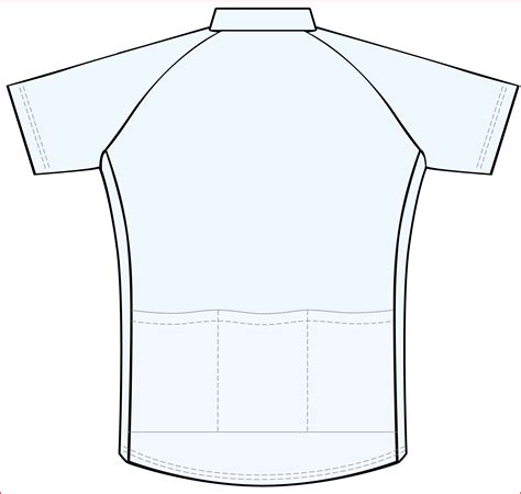 blank cycling jersey template free jersey template coloring pages